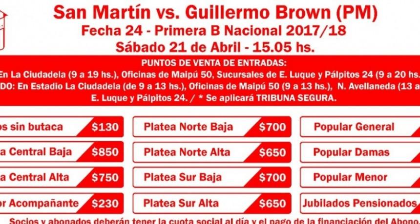 San Martín: continúa la venta de entradas