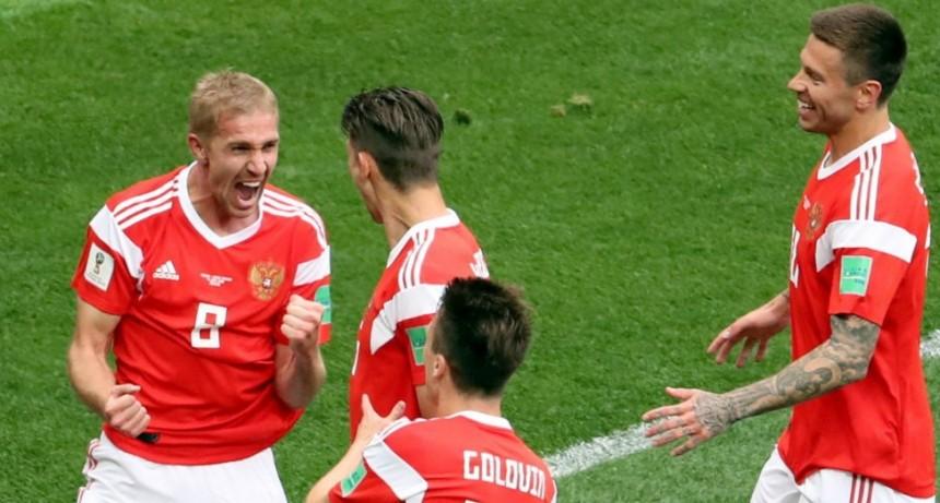 Rusia arrancó su Mundial con todo, goleó a Arabia Saudita