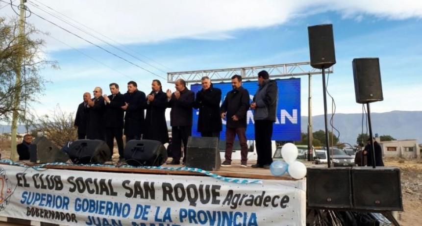 Manzur inauguró una repetidora de Canal 10 en Amaicha del Valle