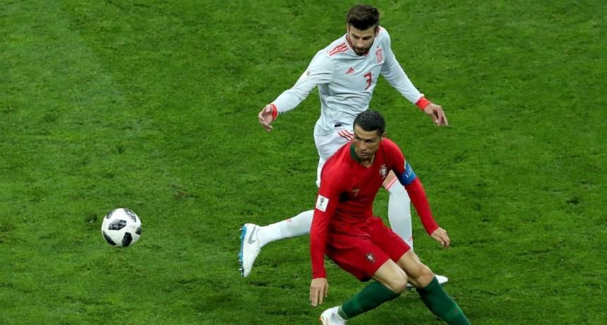España y Portugal (3-3) empatan en un partido frenético