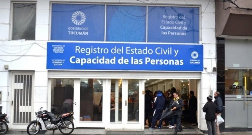 En febrero el Registro Civil retoma su horario de 8 a 17