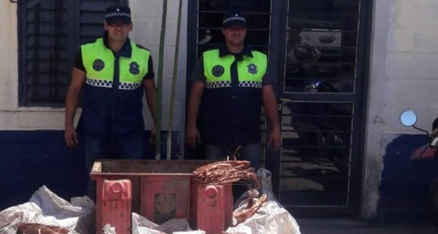 Secuestran más de 700 kilos de cobre robados a una empresa de energía