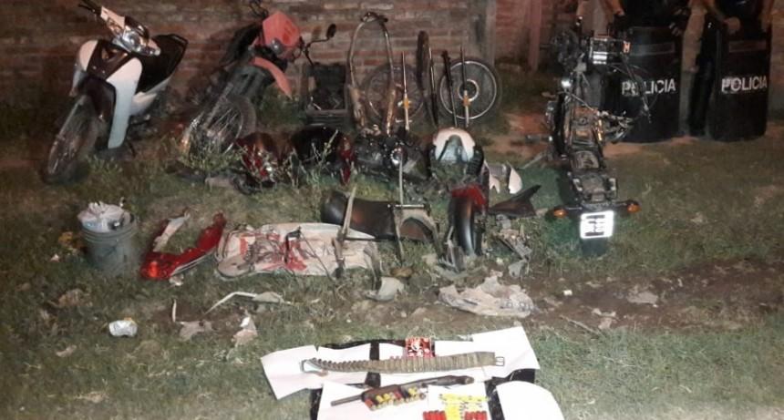 Villa 9 de Julio: Cayó peligrosa banda que robaba y desarmaba motocicletas