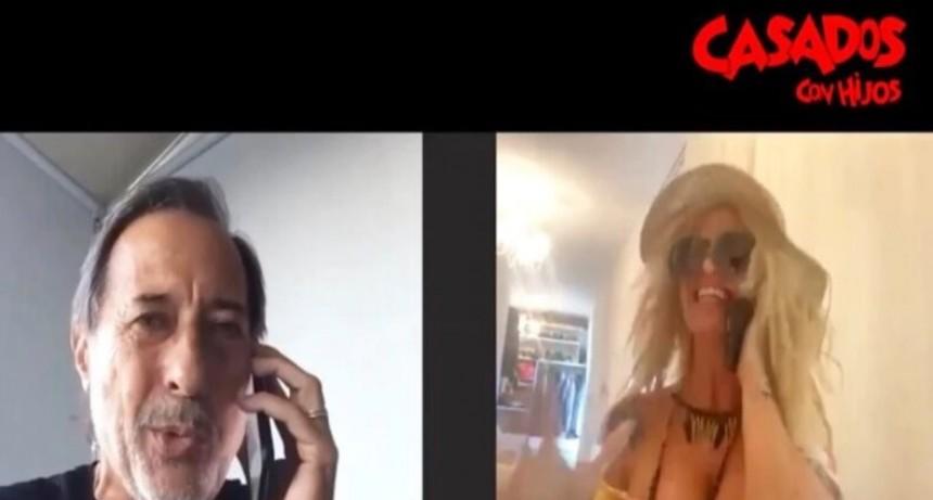 El sexting de Moni y Pepe Argento en cuarentena