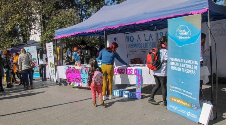 Con diversas actividades, se conmemoró el Día contra la Trata