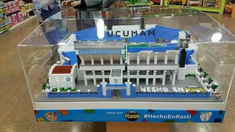 Réplica del estadio de Atlético Tucumán hecho en rasti
