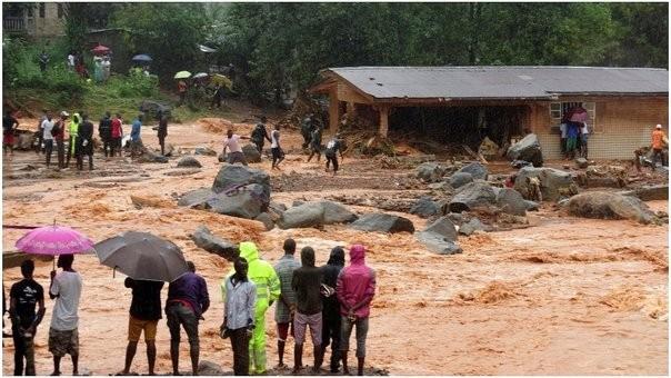 Según la Cruz Roja suman 312 las muertes por las inundaciones en Sierra Leona