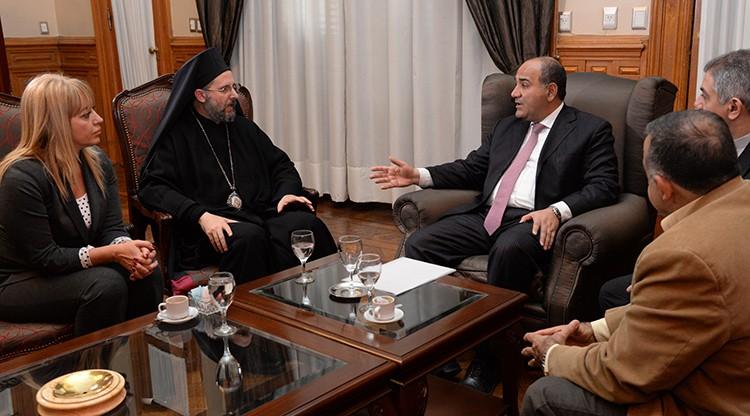 Manzur recibió al arzobispo de la Iglesia Ortodoxa de Antioquía