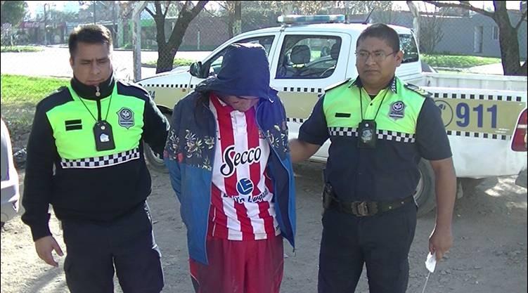 Detienen a un asaltante armado en barrio San Martín