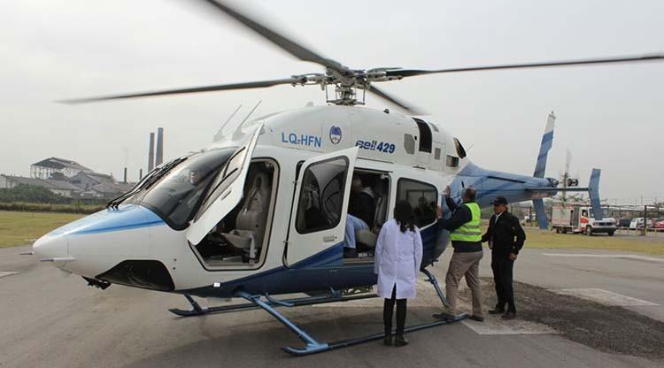 Concretan el primer vuelo sanitario desde el Hospital Eva Perón