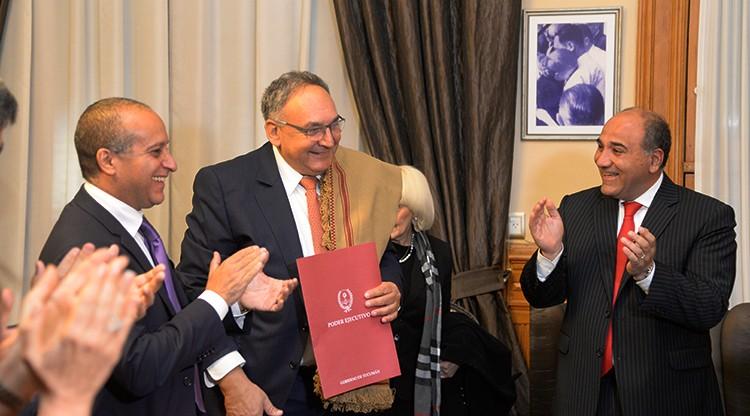 Manzur declaró ciudadano ilustre al doctor Zeev Rotstein