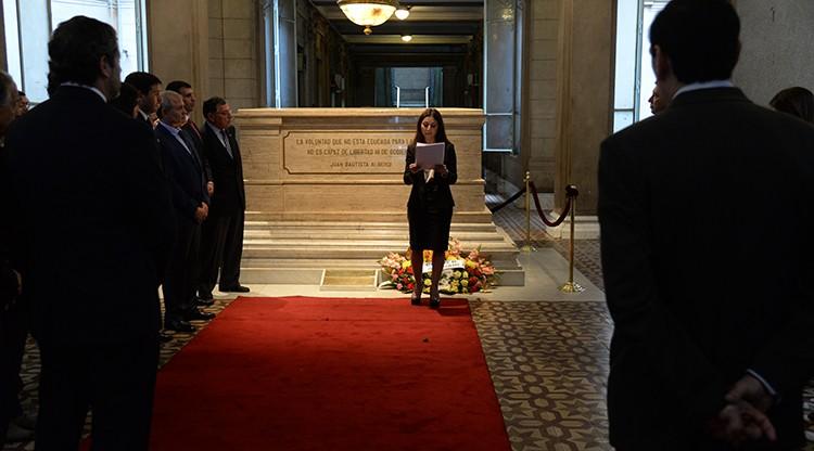 Abogados recordaron a Alberdi en Casa de Gobierno