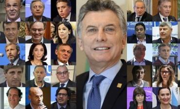 Macri y sus funcionarios, el gabinete de los $ 700 millones