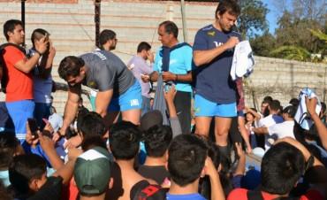 Alumnos compartieron una jornada deportiva con Los Pumas
