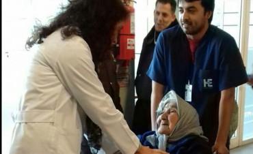 Una paciente de 101 años fue atendida en el Hospital Eva Perón