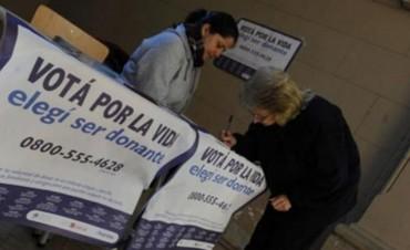 PASO: habrá mesas para expresar la voluntad de donar órganos