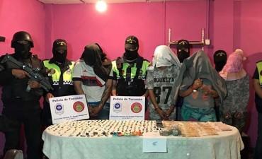 Arrestan a una familia por venta de droga en Alderetes