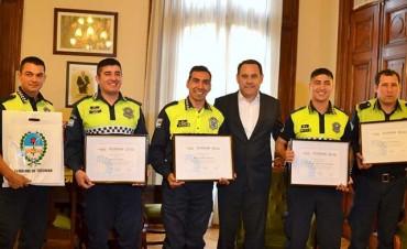 Regino Amado reconoció la labor de policías