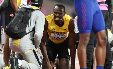 Bolt tuvo un acto final de pesadilla, lesionado y sin medalla