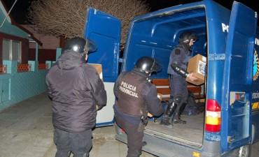 La Policía de la provincia custodia el traslado de urnas