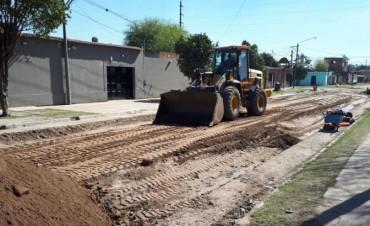 Obras de pavimentación para la Banda del Río Salí