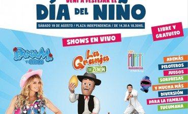 Una variada cartelera para los festejos por el Día del Niño