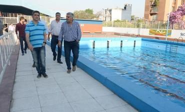 Avanzan las obras para climatizar la pileta del Complejo Belgrano
