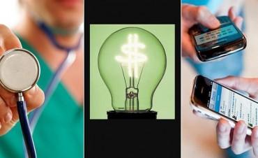 Las tarifas de prepagas, la luz y los celulares suben en septiembre