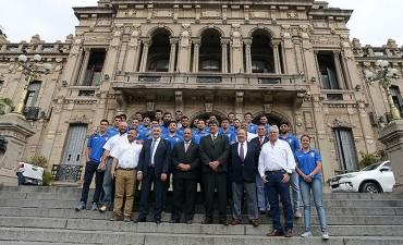 Manzur recibió a los campeones del Regional de Rugby