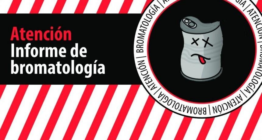 La Dirección de Bromatología alerta sobre productos no aptos para consumo